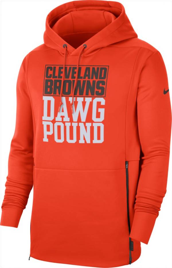 Nike Men's Cleveland Browns Sideline Therma-FIT Local Orange Performance Hoodie product image
