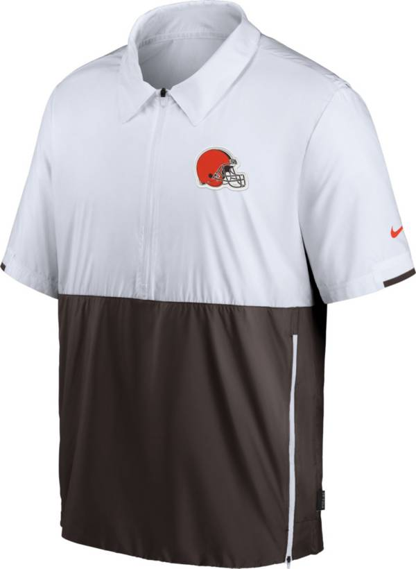Nike Men's Cleveland Browns Coaches Sideline Half-Zip Jacket product image