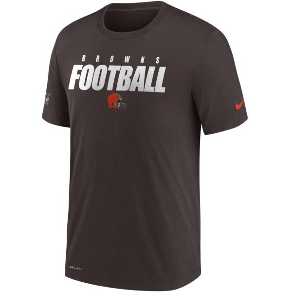Nike Men's Cleveland Browns Sideline Dri-FIT Cotton Football All Brown T-Shirt product image