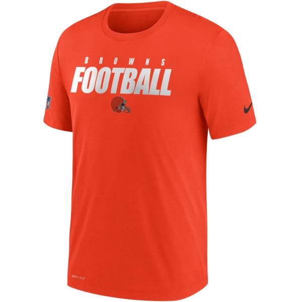 Nike Men's Cleveland Browns Sideline Dri-FIT Cotton Football All Orange T-Shirt product image