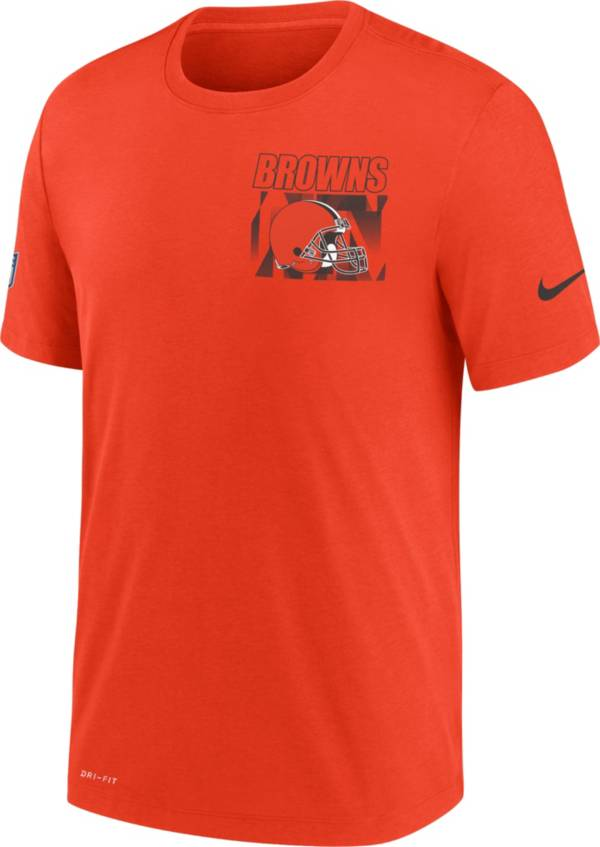 Nike Men's Cleveland Browns Sideline Dri-FIT Cotton Facility Orange T-Shirt product image