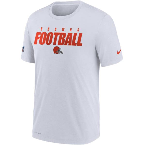 Nike Men's Cleveland Browns Sideline Dri-FIT Cotton Football All White T-Shirt product image
