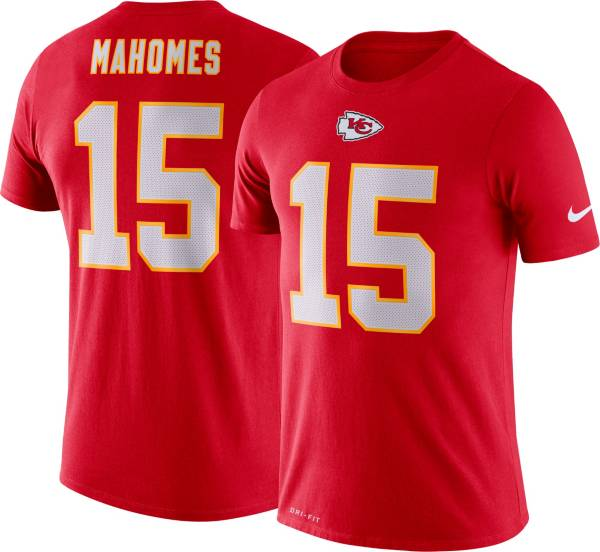 Nike Men's Kansas City Chiefs Patrick Mahomes #15 Logo Red T-Shirt product image
