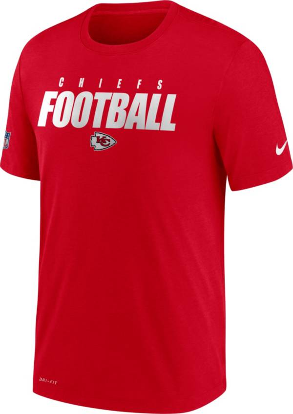 Nike Men's Kansas City Chiefs Sideline Dri-FIT Cotton Football All Red T-Shirt product image