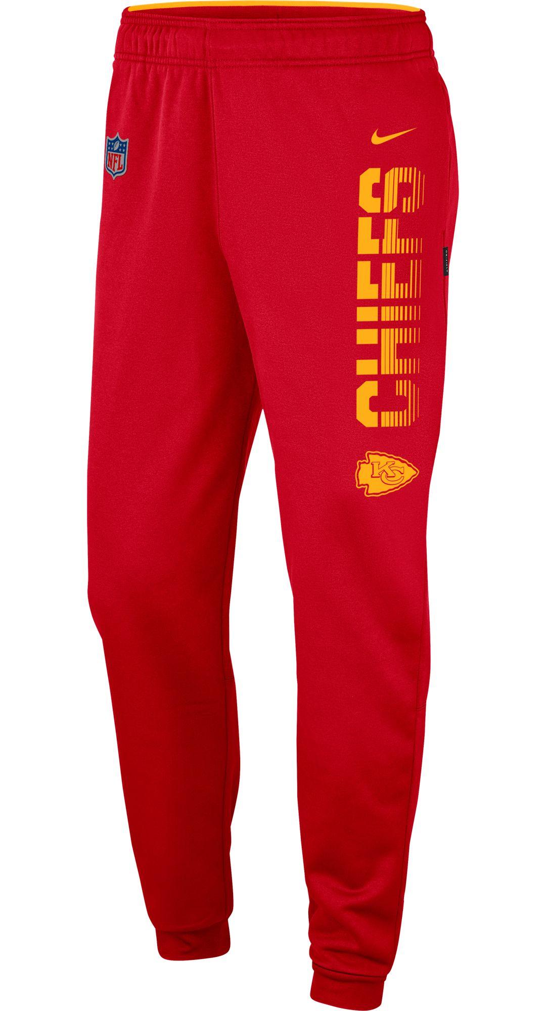 4b2ebb58 Nike Men's Kansas City Chiefs Sideline Therma-FIT Performance Red Pants