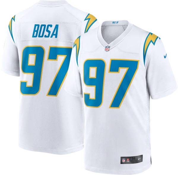 Nike Men's Los Angeles Chargers Joey Bosa #97 Away White Game Jersey product image
