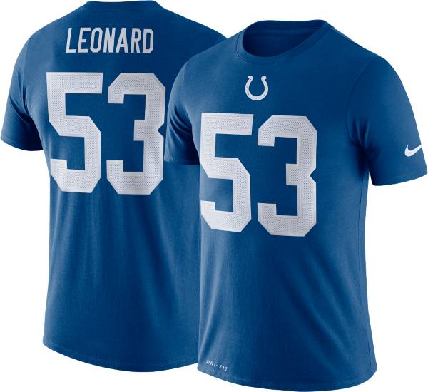 Nike Men's Indianapolis Colts Darius Leonard #53 Logo Blue T-Shirt product image