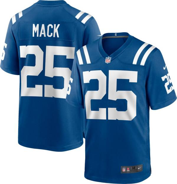 Nike Men's Indianapolis Colts Marlon Mack #25 Blue Game Jersey product image