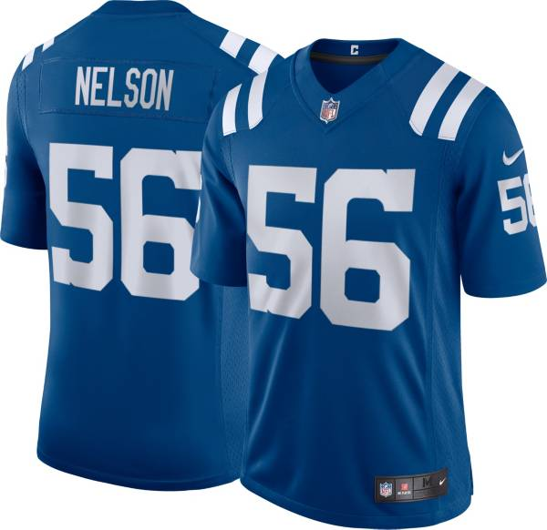 Nike Men's Indianapolis Colts Quenton Nelson #56 Blue Limited Jersey product image