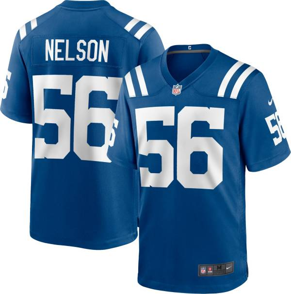 Nike Men's Indianapolis Colts Quenton Nelson #56 Blue Game Jersey product image