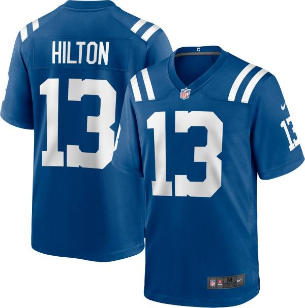 Nike Men's Indianapolis Colts T.Y. Hilton #13 Blue Game Jersey product image