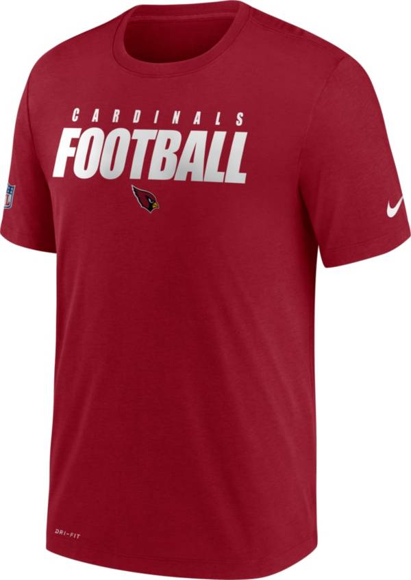 Nike Men's Arizona Cardinals Sideline Dri-FIT Cotton Football All Red T-Shirt product image