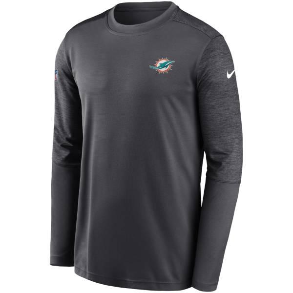 Nike Men's Miami Dolphins Coaches Sideline Long Sleeve Shirt product image