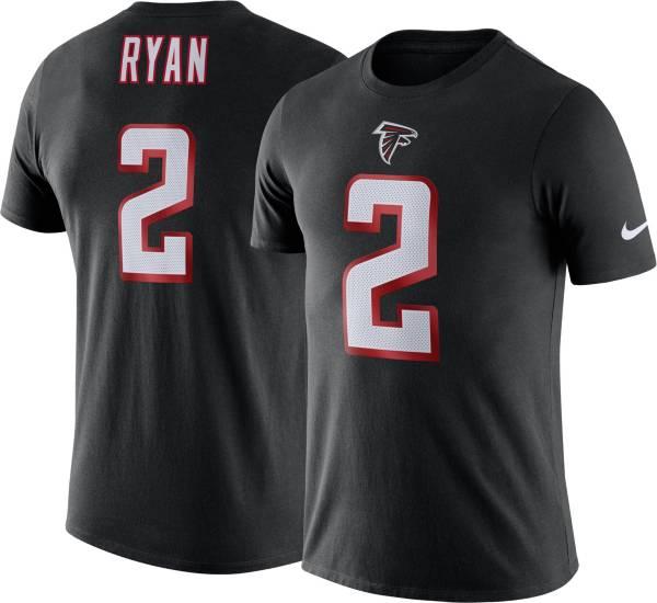 Nike Men's Atlanta Falcons Matt Ryan #2 Logo Black T-Shirt product image