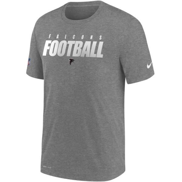 Nike Men's Atlanta Falcons Sideline Dri-FIT Cotton Football All Grey T-Shirt product image
