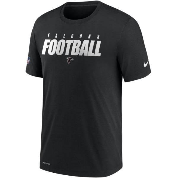Nike Men's Atlanta Falcons Sideline Dri-FIT Cotton Football All Black T-Shirt product image