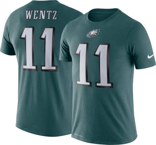 Nike Men's Philadelphia Eagles Carson Wentz #11 Logo Green T-Shirt product image
