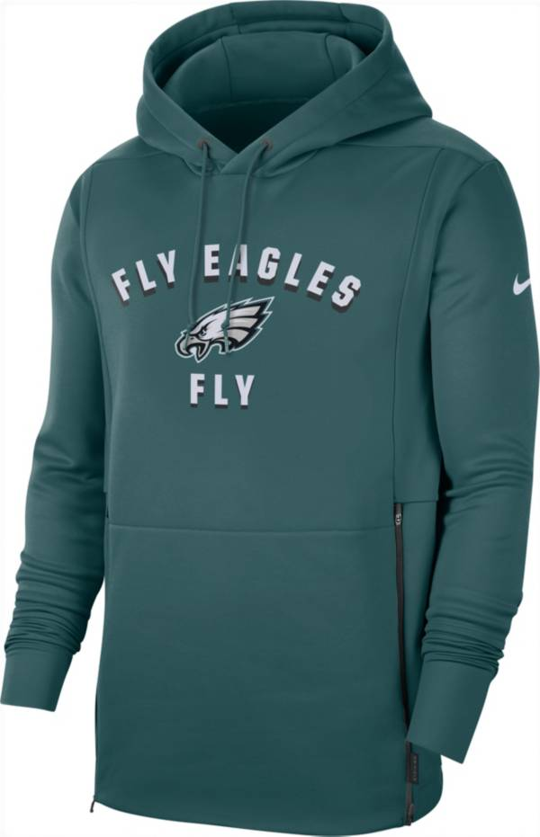 Nike Men's Philadelphia Eagles Sideline Therma-FIT Local Green Performance Hoodie product image