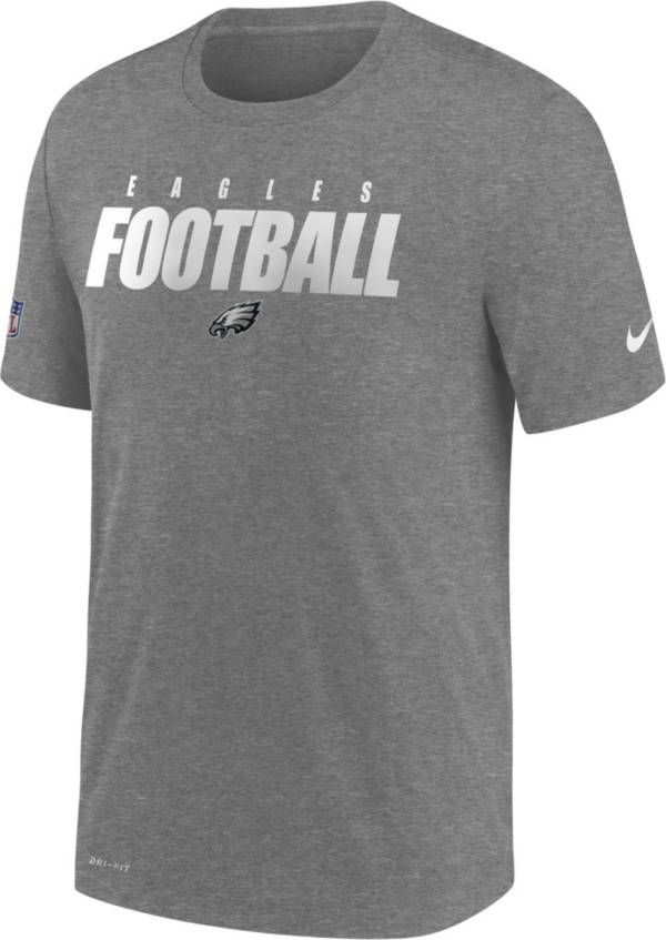 Nike Men's Philadelphia Eagles Sideline Dri-FIT Cotton Football All Grey T-Shirt product image