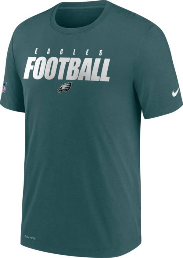 Nike Men's Philadelphia Eagles Sideline Dri-FIT Cotton Football All Teal T-Shirt product image