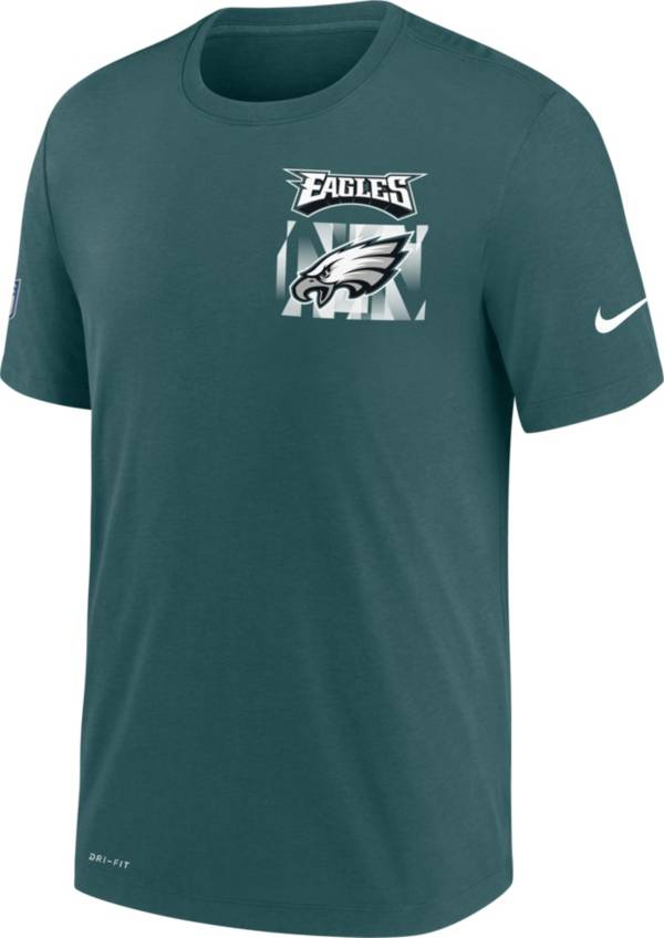 Nike Men's Philadelphia Eagles Sideline Dri-FIT Cotton Facility Teal T-Shirt product image