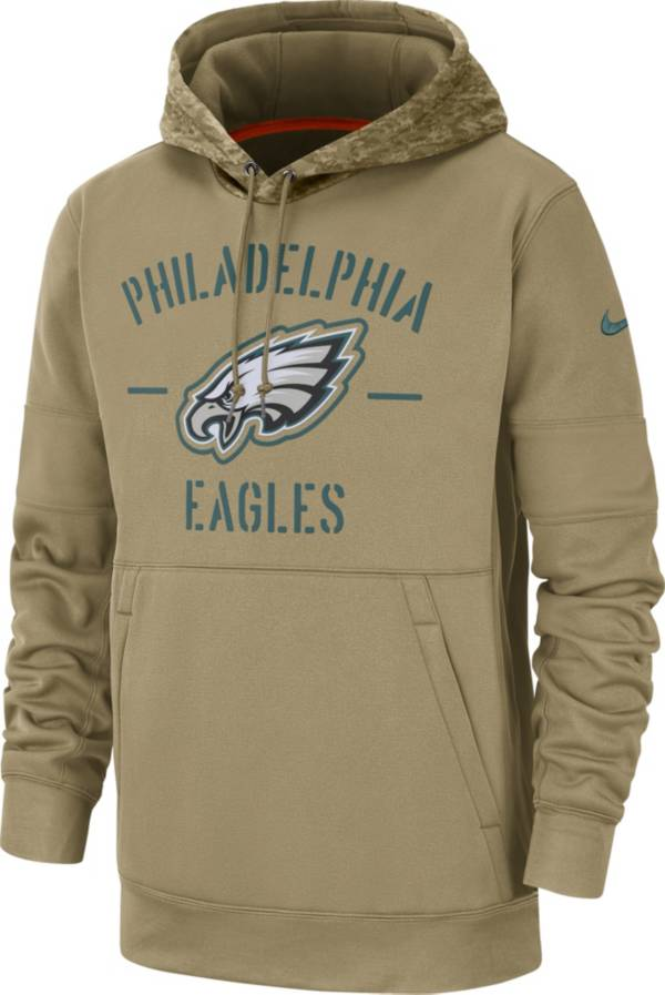Nike Men's Salute to Service Philadelphia Eagles Therma-FIT Beige Camo Hoodie product image