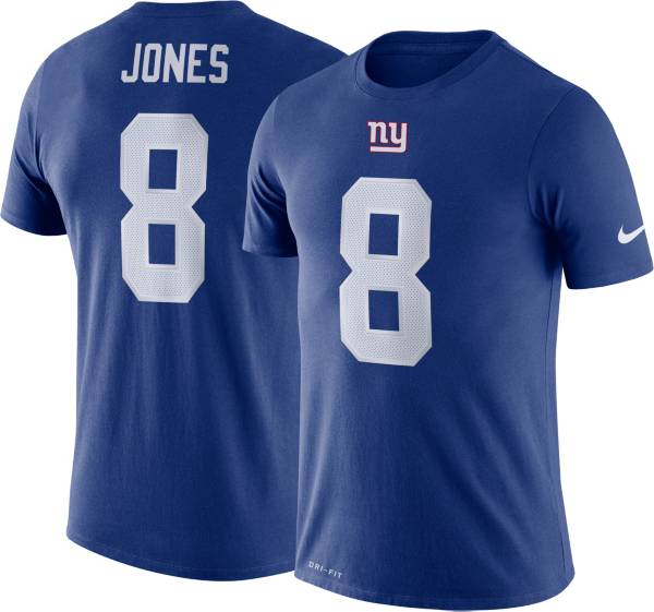 Nike Men's New York Giants Daniel Jones #8 Logo Blue T-Shirt product image