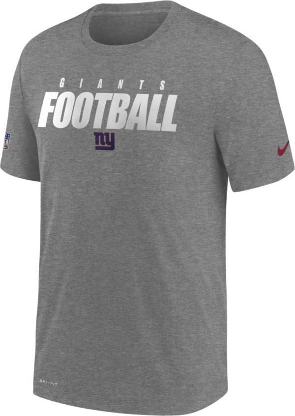 Nike Men's New York Giants Sideline Dri-FIT Cotton Football All Grey T-Shirt product image
