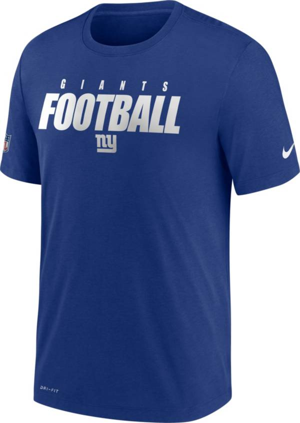 Nike Men's New York Giants Sideline Dri-FIT Cotton Football All Royal T-Shirt product image