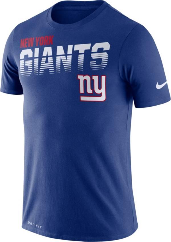 Nike Men's New York Giants Sideline Legend Performance Blue T-Shirt product image