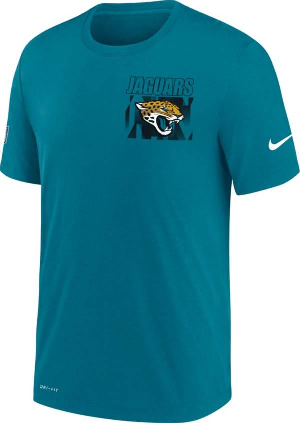 Nike Men's Jacksonville Jaguars Sideline Dri-FIT Cotton Facility Blue T-Shirt product image