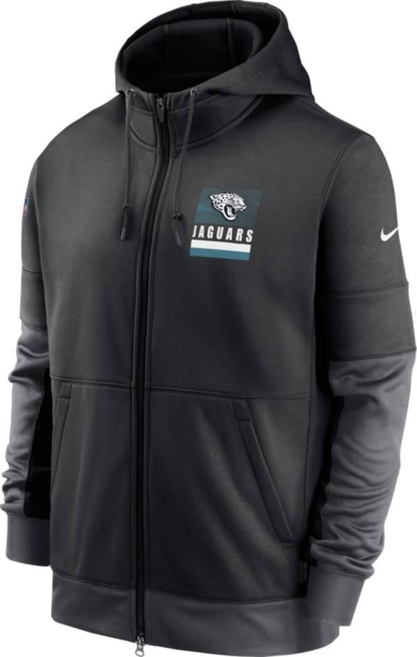 Nike Men's Jacksonville Jaguars Sideline Lock Up Full-Zip Black Hoodie product image