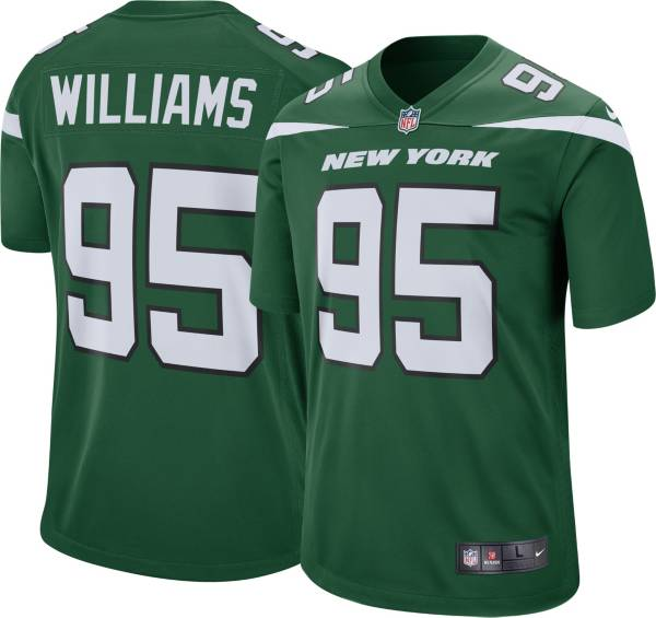 Nike Men's New York Jets Quinnen Williams #95 Green Game Jersey product image