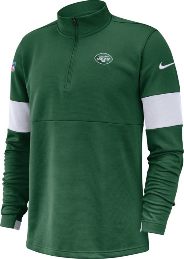 Nike Men's New York Jets Sideline Coach Performance Green Half-Zip Pullover product image
