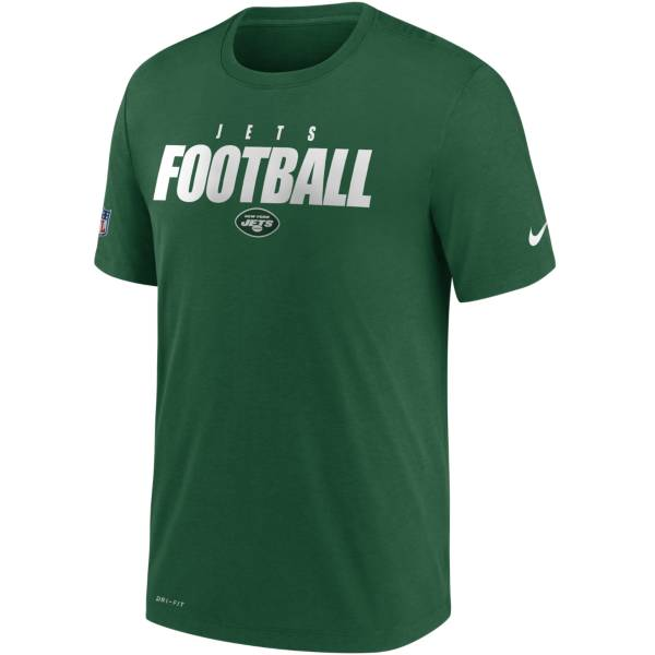 Nike Men's New York Jets Sideline Dri-FIT Cotton Football All Green T-Shirt product image