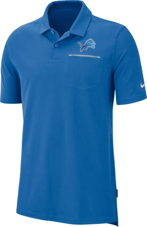 Nike Men's Detroit Lions Sideline Elite Performance Blue Polo product image