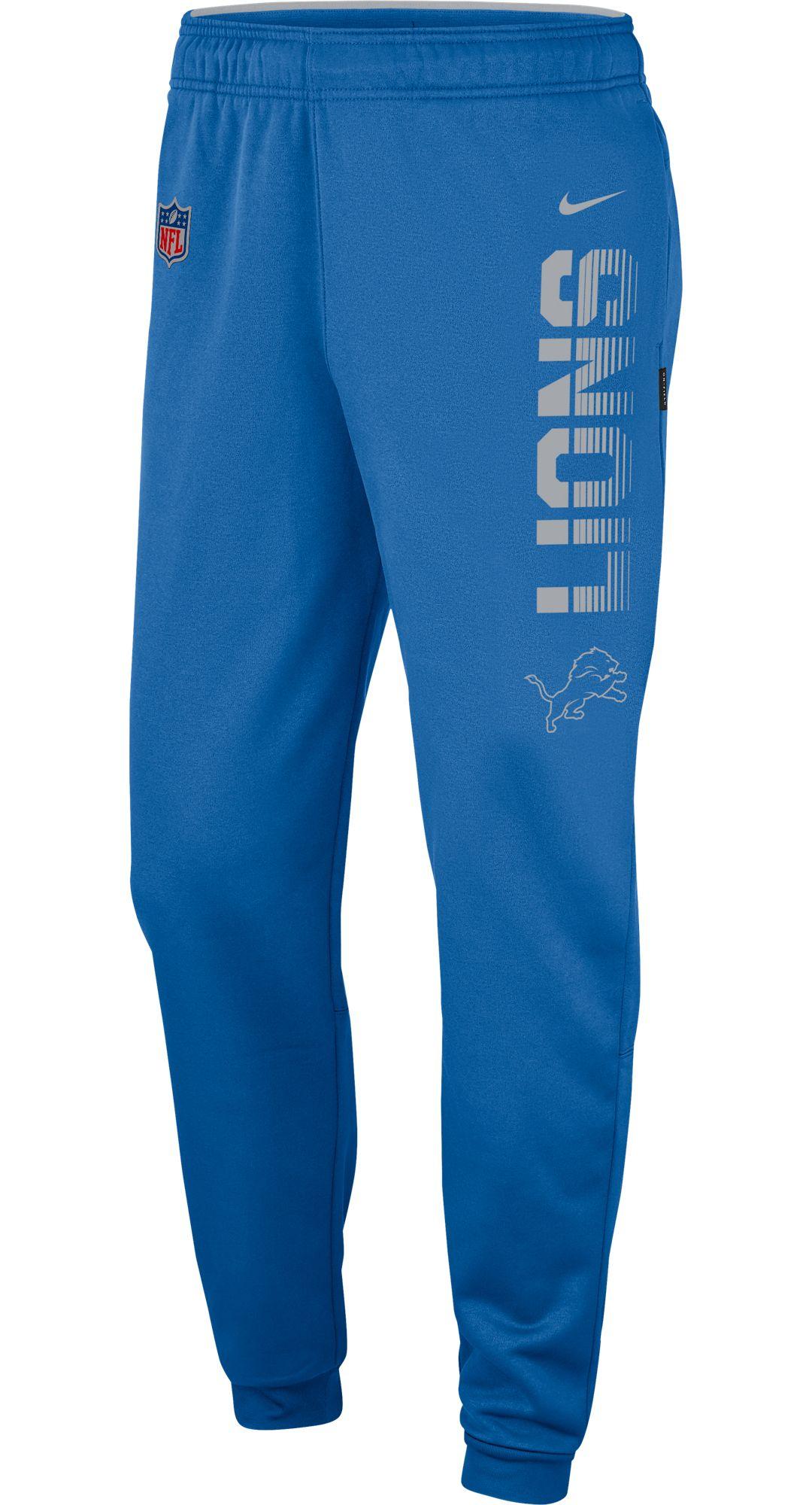16170a23 Nike Men's Detroit Lions Sideline Therma-FIT Performance Blue Pants