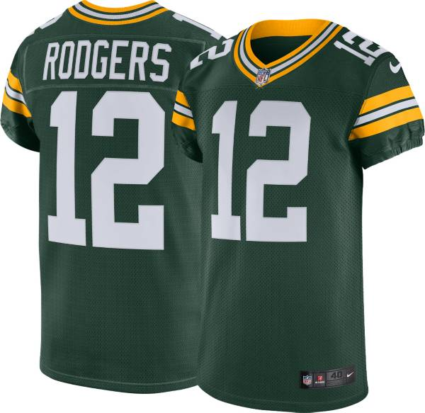 Nike Men's Green Bay Packers Aaron Rodgers #12 Green Elite Jersey product image