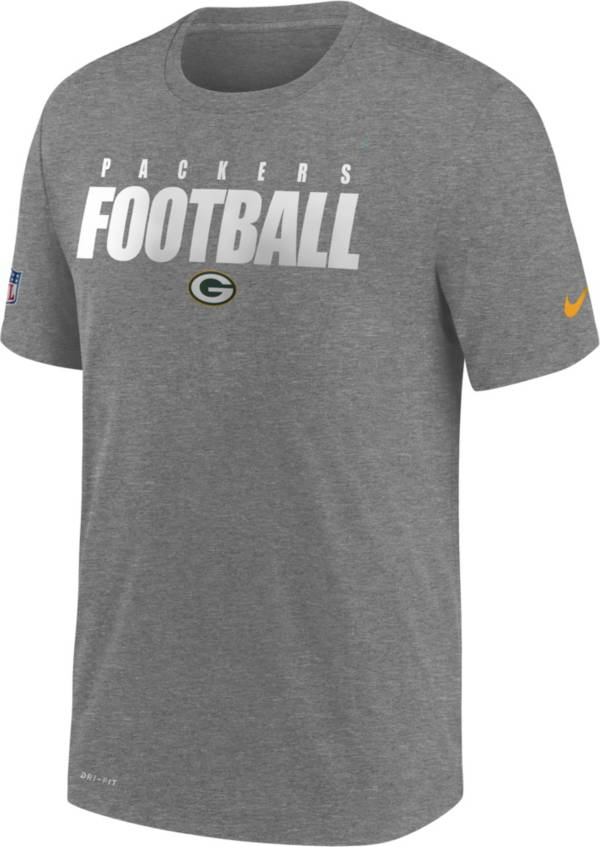 Nike Men's Green Bay Packers Sideline Dri-FIT Cotton Football All Grey T-Shirt product image