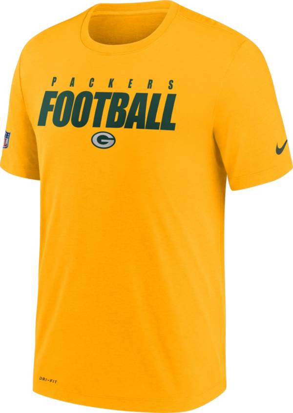 Nike Men's Green Bay Packers Sideline Dri-FIT Cotton Football All Gold T-Shirt product image