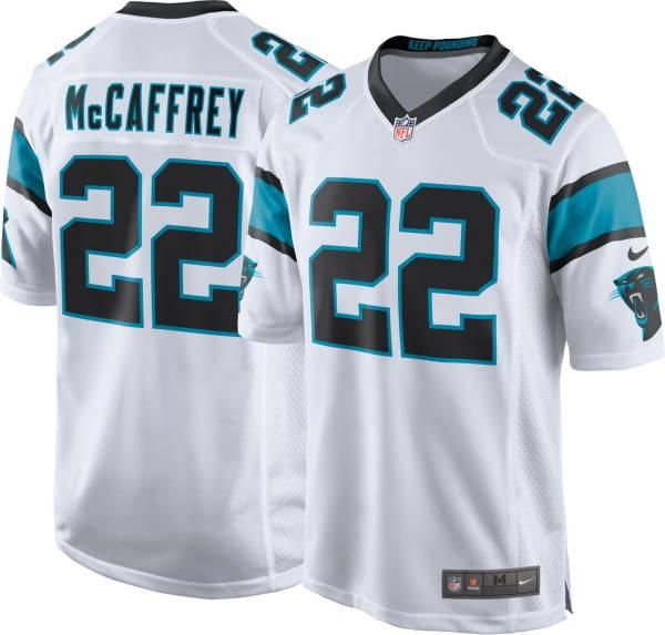Nike Men's Carolina Panthers Christian McCaffrey #22 White Game Jersey