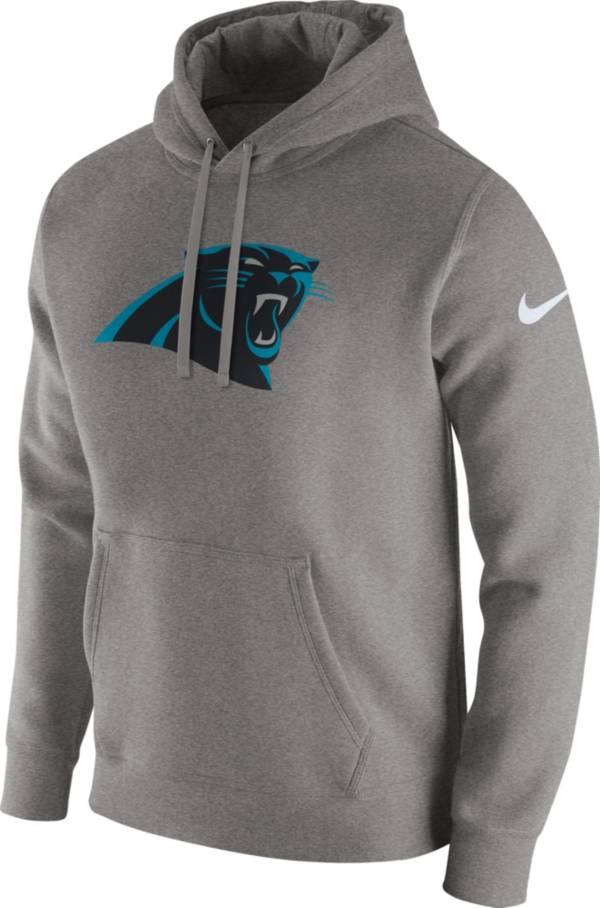 Nike Men's Carolina Panthers Logo Club Grey Hoodie product image