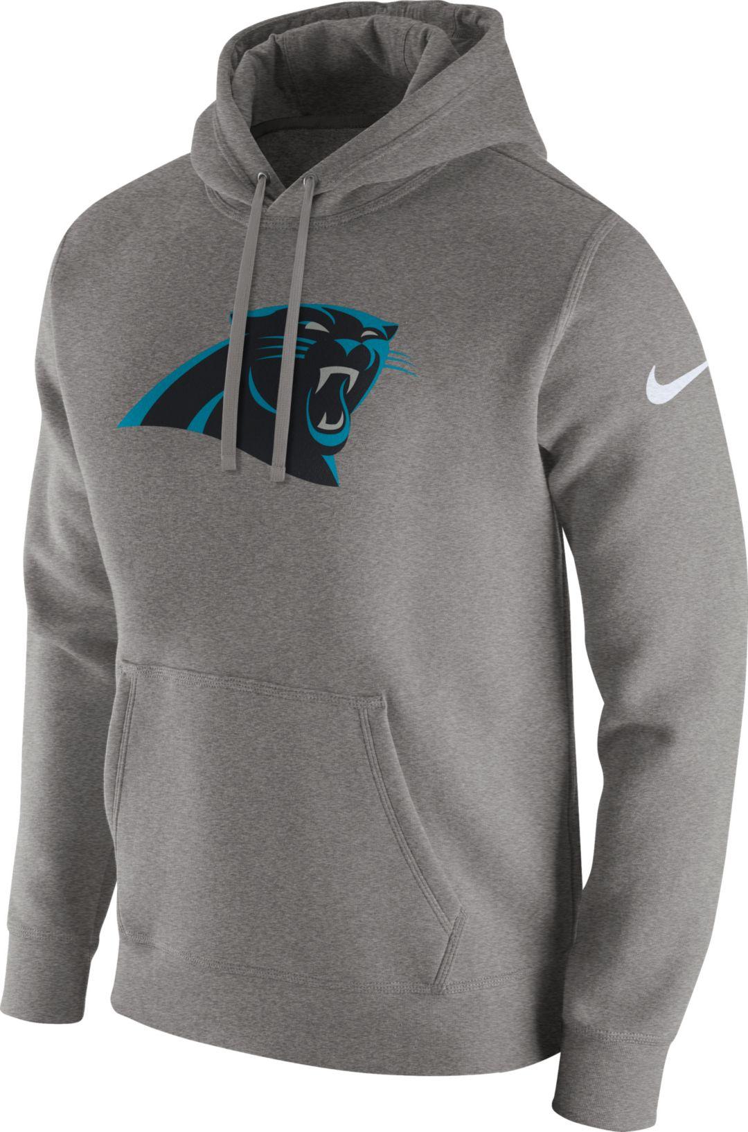 b2f2764e Nike Men's Carolina Panthers Logo Club Grey Hoodie