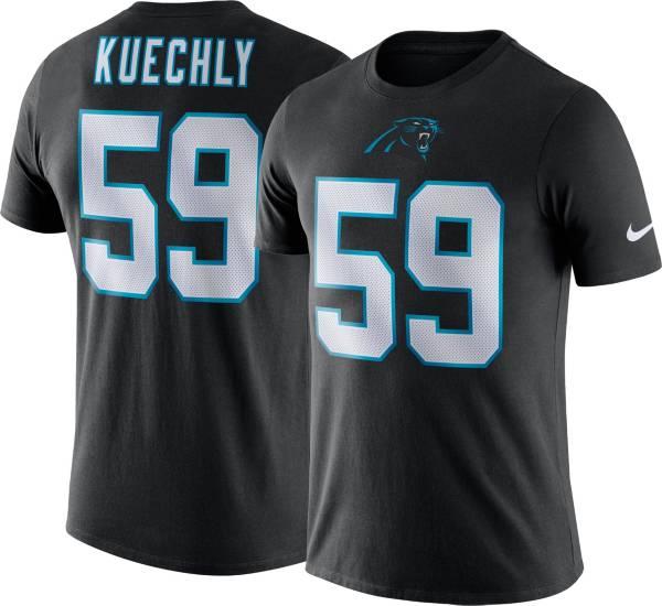 Nike Men's Carolina Panthers Luke Kuechly #59 Logo Black T-Shirt product image