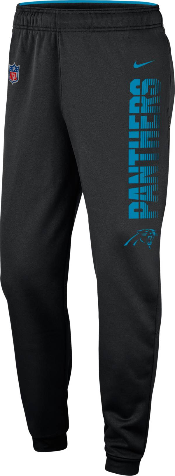 Nike Men's Carolina Panthers Sideline Therma-FIT Performance Black Pants product image