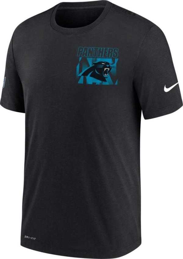 Nike Men's Carolina Panthers Sideline Dri-FIT Cotton Facility Black T-Shirt product image