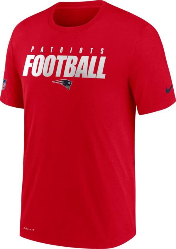 Nike Men's New England Patriots Sideline Dri-FIT Cotton Football All Red T-Shirt product image