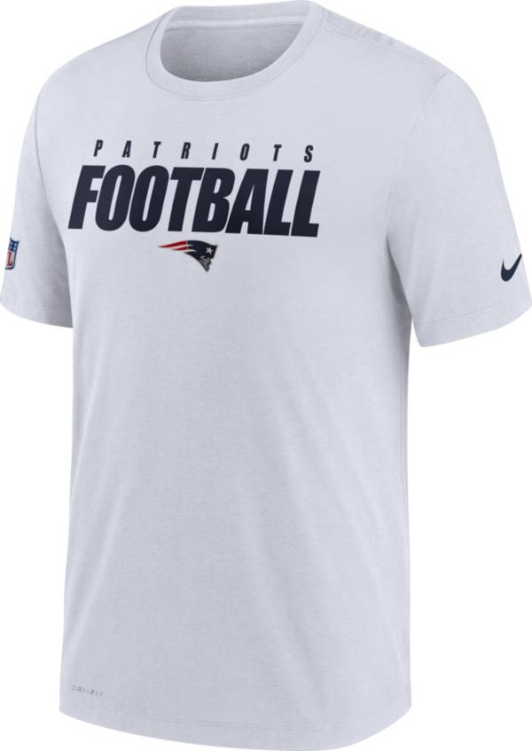 Nike Men's New England Patriots Sideline Dri-FIT Cotton Football All White T-Shirt product image