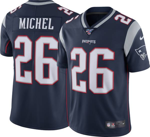 Nike Men's New England Patriots Sony Michel #26 100th Navy Limited Jersey product image