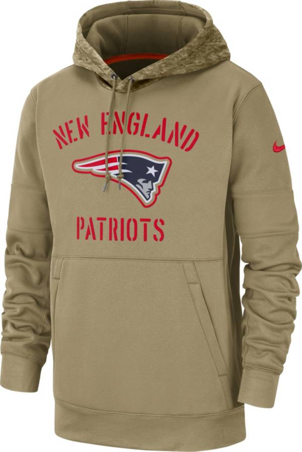 Nike Men's Salute to Service New England Patriots Therma-FIT Beige Camo Hoodie product image